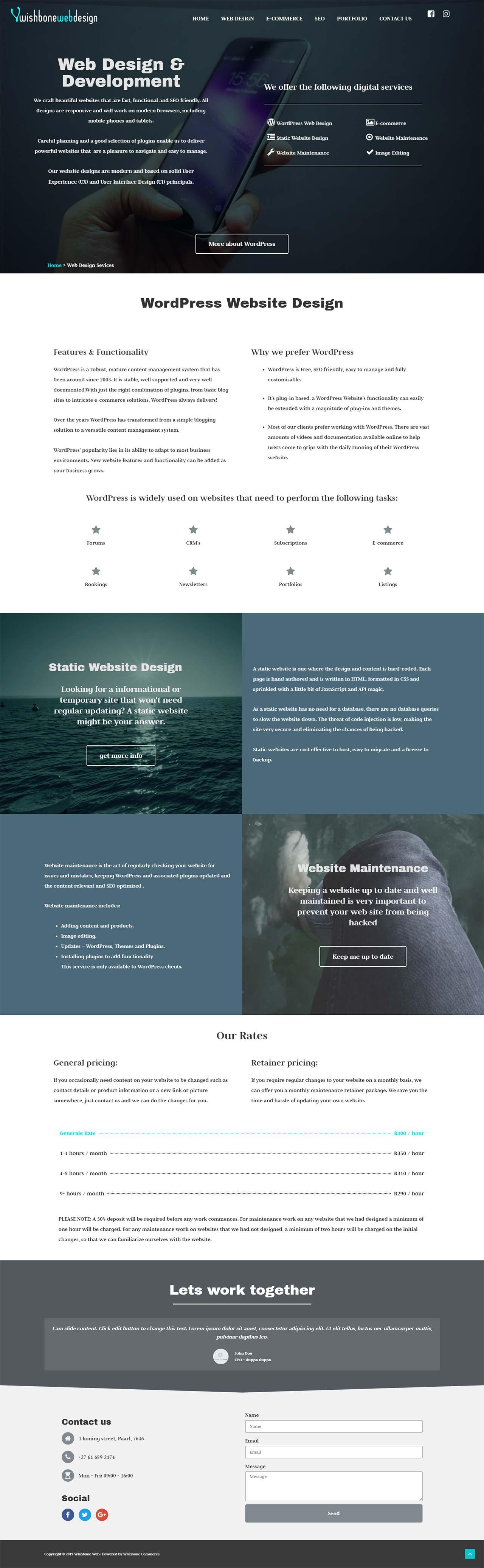 wishbone web portfolio lead image